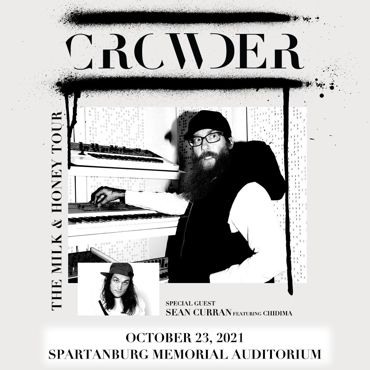 Crowder  The Milk & Honey Tour  w/ special guest Sean Curran